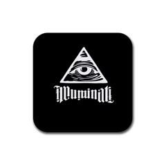 Illuminati Rubber Square Coaster (4 Pack)  by Valentinaart