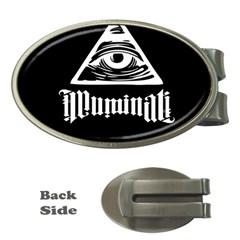 Illuminati Money Clips (oval)  by Valentinaart