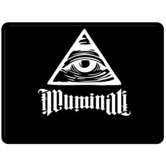 Illuminati Fleece Blanket (large)  by Valentinaart