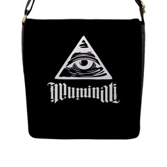 Illuminati Flap Messenger Bag (l)  by Valentinaart