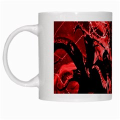Scary Background White Mugs by dflcprints