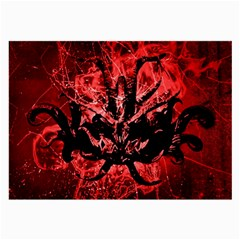 Scary Background Large Glasses Cloth (2 Side) by dflcprints