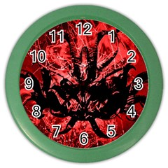 Scary Background Color Wall Clocks by dflcprints