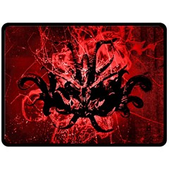 Scary Background Fleece Blanket (large)  by dflcprints