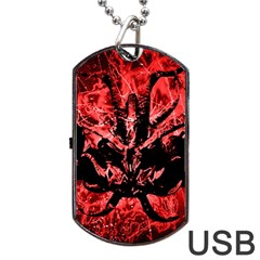 Scary Background Dog Tag Usb Flash (two Sides) by dflcprints