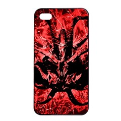 Scary Background Apple Iphone 4/4s Seamless Case (black) by dflcprints