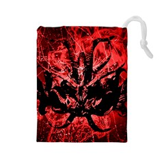 Scary Background Drawstring Pouches (large)  by dflcprints