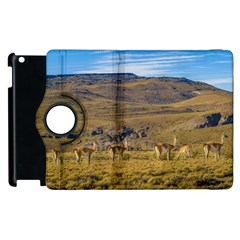 Group Of Vicunas At Patagonian Landscape, Argentina Apple Ipad 2 Flip 360 Case by dflcprints