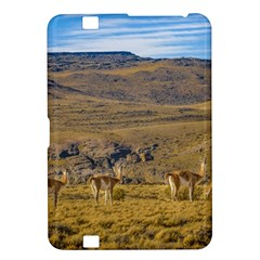 Group Of Vicunas At Patagonian Landscape, Argentina Kindle Fire Hd 8 9  by dflcprints