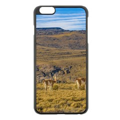 Group Of Vicunas At Patagonian Landscape, Argentina Apple Iphone 6 Plus/6s Plus Black Enamel Case by dflcprints