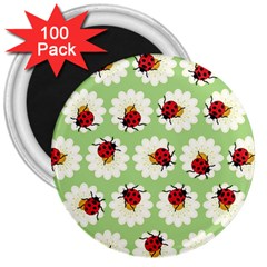 Ladybugs Pattern 3  Magnets (100 Pack) by linceazul