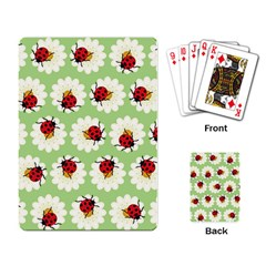 Ladybugs Pattern Playing Card by linceazul