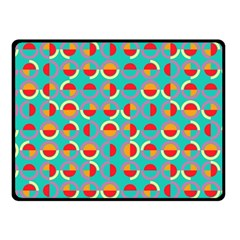 Semicircles And Arcs Pattern Fleece Blanket (small) by linceazul