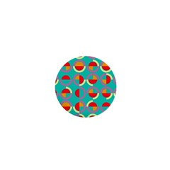 Semicircles And Arcs Pattern 1  Mini Magnets by linceazul