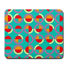 Semicircles And Arcs Pattern Large Mousepads by linceazul