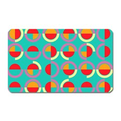 Semicircles And Arcs Pattern Magnet (rectangular) by linceazul