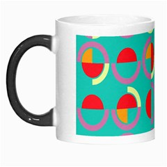 Semicircles And Arcs Pattern Morph Mugs by linceazul