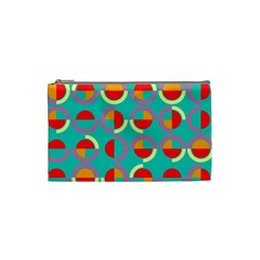 Semicircles And Arcs Pattern Cosmetic Bag (small)  by linceazul