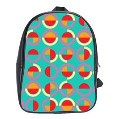 Semicircles And Arcs Pattern School Bags(large)  by linceazul