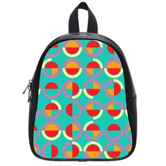 Semicircles And Arcs Pattern School Bags (small)  by linceazul