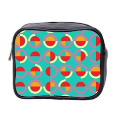 Semicircles And Arcs Pattern Mini Toiletries Bag 2 Side by linceazul