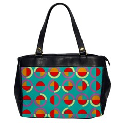 Semicircles And Arcs Pattern Office Handbags by linceazul
