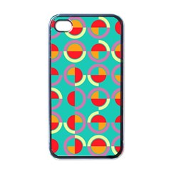 Semicircles And Arcs Pattern Apple Iphone 4 Case (black) by linceazul