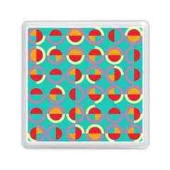 Semicircles And Arcs Pattern Memory Card Reader (square)  by linceazul