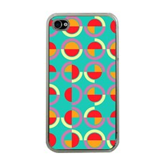 Semicircles And Arcs Pattern Apple Iphone 4 Case (clear) by linceazul