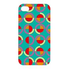 Semicircles And Arcs Pattern Apple Iphone 4/4s Hardshell Case by linceazul