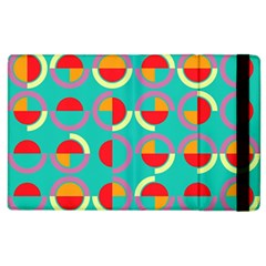 Semicircles And Arcs Pattern Apple Ipad 3/4 Flip Case by linceazul