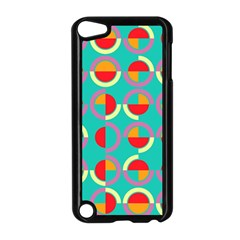 Semicircles And Arcs Pattern Apple Ipod Touch 5 Case (black) by linceazul