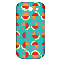 Semicircles And Arcs Pattern Samsung Galaxy S3 S Iii Classic Hardshell Back Case by linceazul