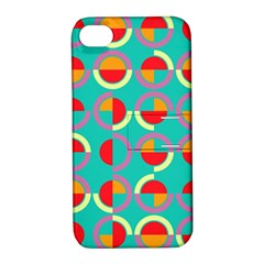 Semicircles And Arcs Pattern Apple Iphone 4/4s Hardshell Case With Stand by linceazul