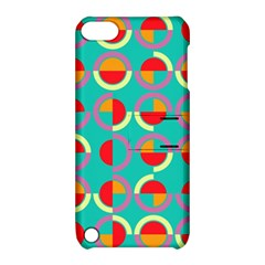 Semicircles And Arcs Pattern Apple Ipod Touch 5 Hardshell Case With Stand by linceazul