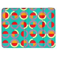 Semicircles And Arcs Pattern Samsung Galaxy Tab 7  P1000 Flip Case by linceazul