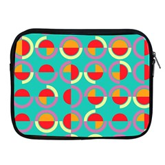 Semicircles And Arcs Pattern Apple Ipad 2/3/4 Zipper Cases by linceazul