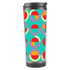 Semicircles And Arcs Pattern Travel Tumbler by linceazul