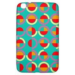 Semicircles And Arcs Pattern Samsung Galaxy Tab 3 (8 ) T3100 Hardshell Case  by linceazul