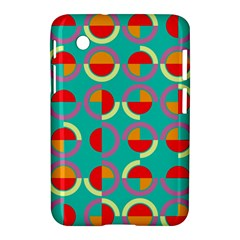 Semicircles And Arcs Pattern Samsung Galaxy Tab 2 (7 ) P3100 Hardshell Case  by linceazul