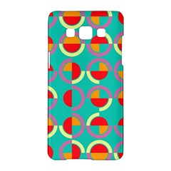 Semicircles And Arcs Pattern Samsung Galaxy A5 Hardshell Case  by linceazul