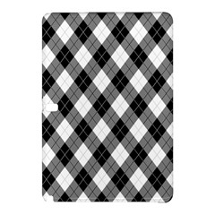 Argyll Diamond Weave Plaid Tartan in Black and White Pattern Samsung Galaxy Tab Pro 12.2 Hardshell Case