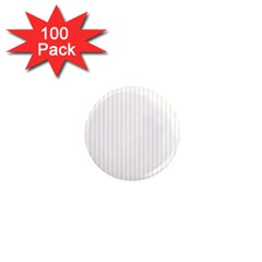 Classic Cream Pin Stripes on White 1  Mini Magnets (100 pack)  by PodArtist