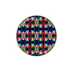 Colorful Bright Seamless Flower Pattern Hat Clip Ball Marker by Costasonlineshop