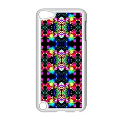 Colorful Bright Seamless Flower Pattern Apple Ipod Touch 5 Case (white) by Costasonlineshop