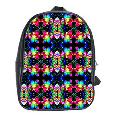 Colorful Bright Seamless Flower Pattern School Bags (xl)  by Costasonlineshop