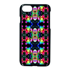 Colorful Bright Seamless Flower Pattern Apple Iphone 7 Seamless Case (black) by Costasonlineshop