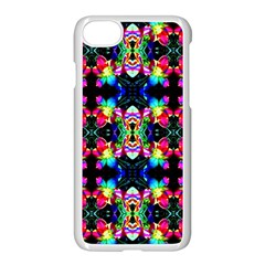 Colorful Bright Seamless Flower Pattern Apple Iphone 7 Seamless Case (white) by Costasonlineshop