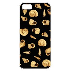 Shell Pattern Apple Iphone 5 Seamless Case (white) by Valentinaart
