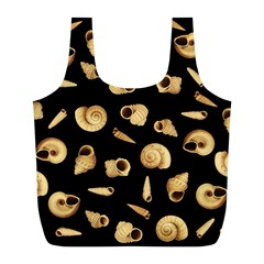 Shell Pattern Full Print Recycle Bags (l)  by Valentinaart